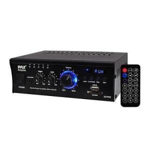 オーディオ ホームオーディオステレオ コンポーネント アンプ プリアンプ Pyle Mini 2x75 Watt Stereo Power Amplifier #PCAU35A|pandastore