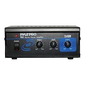 オーディオ ホームオーディオステレオ コンポーネント アンプ プリアンプ Pyle Mini 2x40W Stereo Power Amplifier #PCA2|pandastore