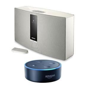 ホームオーディオ ボーズ Bose SoundTouch 30 Series 3 Wireless Music System White W/Amazon Echo Dot Black|pandastore