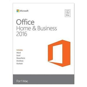 PC用品 ソフトウェア オフィス ビジネス Microsoft Office Home and Business 2016 for Mac, Mac Key Card, Boxed #W6F-00796
