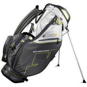 ゴルフクラブ バッグ サンマウンテン Sun Mountain C130 Stand バッグ Gunmetal/ホワイト/Citron -ゴルフ バッグ|pandastore