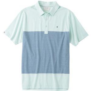距離計 スコープ リンクソウル Linksoul Y/D ストライプ Polo  ミント X-ラージ - メンズ ゴルフ shirt