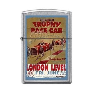 ライター ジッポー Zippo 207 TROPHY RACE CAR london level open wheel vintage poster RARE Lighter|pandastore