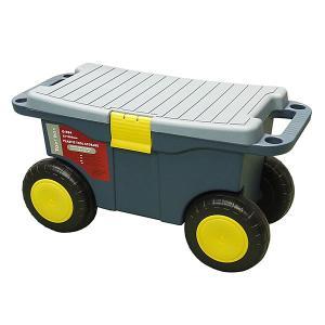 イリイ 腰掛けツールカート 樹脂製 大型タイヤ T349|pandayano2