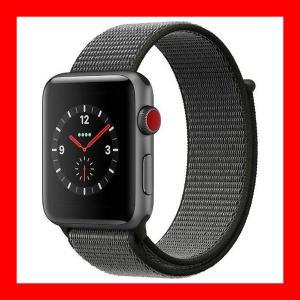 【5%還元キャッシュレス】Apple Watch Series 3(GPS + Cellularモデル)- 42mmスペースグレイアルミニウムケースとダークオリーブスポーツループ MQKR2J/A|pandora-a3