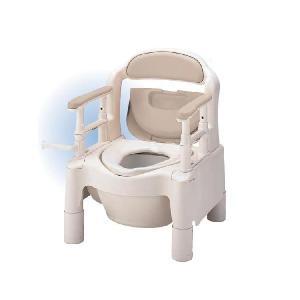 安寿 ポータブルトイレ ちびくまくん FX-CP 標準タイプ 533-550 ベージュ アロン化成|pandora