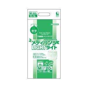 介護用紙オムツ メディパンツライトM-20 20枚×4袋 2101→3205 近澤製紙所|pandora