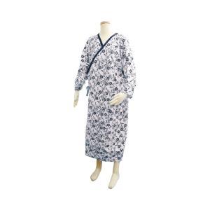 テイコブ 介護用ねまき 婦人用 PA06 フリーサイズ 幸和製作所<br>寝巻き ガーゼ 浴衣 介護 パジャマ 寝巻き レディース 介護用品