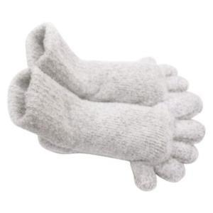●手袋屋さんのもこもこ5本指ソックス(ショート) フクシン