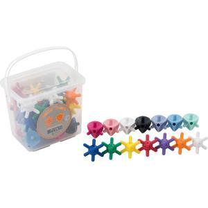 送料無料 知育玩具 つのつのサイコロ&テトラ35個ボックス TTE-A35 ボウンディア|pandora
