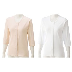 7分袖ワンタッチシャツ(2枚組) 89793 ケアファッション|pandora