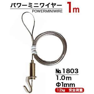 パワーミニワイヤーM100 長さ1m ピクチャーレール用自在 100個単位 panel-c