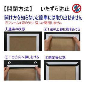 キューブユニフォーム Tシャツ用額縁 ブラック UVカット仕様|panel-c|02