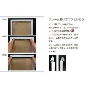 キューブユニフォーム Tシャツ用額縁 シルバー UVカット仕様|panel-c|09