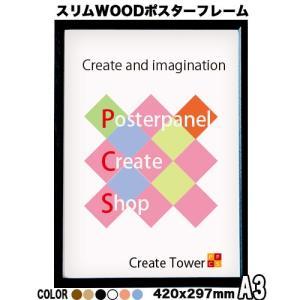 スリムWOODポスターフレーム A3 サイズ 420x297mm panel-c