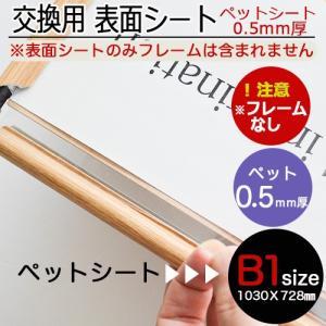 0.5mm厚ペットシートB1ポスターフレーム用 10枚セット|panel-c