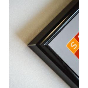 送料無料 ポスターフレームHT711 B2ブラック UVカット表面シート  ポスター用額縁|panel-c|03