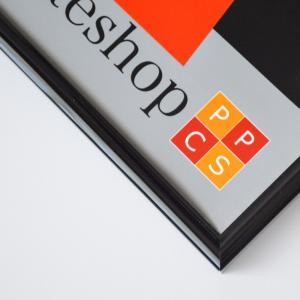 送料無料 ポスターフレームHT711 B2ブラック UVカット表面シート  ポスター用額縁|panel-c|04