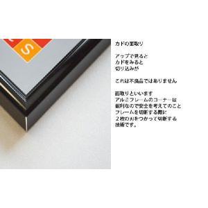 送料無料 ポスターフレームHT711 B2ブラック UVカット表面シート  ポスター用額縁|panel-c|06