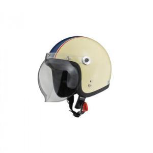 送料無料|リード工業 BARTON ジェットヘルメット アイボリー×ネイビー フリーサイズ BC-10|b03|panfamcom