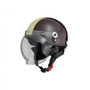 送料無料 リード工業  CROSS ハーフヘルメット ブラウン× アイボリー フリーサイズ CR-760 b03 panfamcom