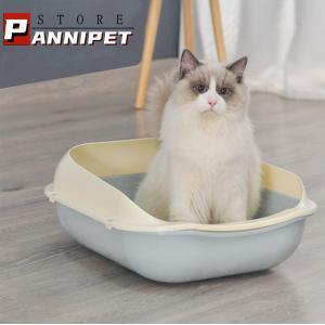 猫 トイレ ネコトイレ 砂飛び散り防止 手入れ簡単 猫用 ペットトイレ ネコ トイレ本体 分解可 丸洗い可 スコップ付 掃除しやすい 送料無料|panni-fashion