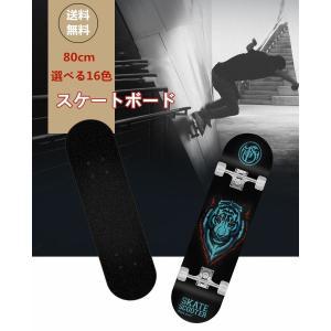 スケートボード スケボー 木製 ハードメープル 楓木製 おしゃれ 80cm 約3kg 耐荷重120kg 16色 カラフル Panni|panni-fashion
