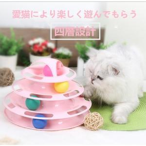 Panni 猫 おもちゃ ペット 用品 遊ぶ盤 ペット おもちゃ 新着四層タイプ  運動不足 ストレス 解消|panni123