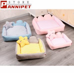 犬ベッド ペットベッド クッション ベッド 枕付き 犬猫兼用 シンプル 可愛い ふわふわ 柔らかい ぐっすり眠れる 選べる3色 小型犬 panni123