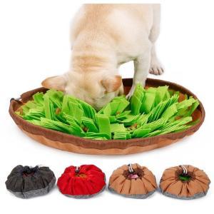 餌入れおもちゃ ノーズワーク 犬 猫 食器 早食い防止  ペ ット用訓練毛布 嗅覚訓練 運動器具 運動不足解消 餌マット 知育マット 餌隠し 噛むおもちゃ|panni123