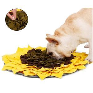 ひまわり 花 犬のトレーニングマット 嗅覚訓練 ペット鼻用毛布 鼻づまり 餌入りマット訓練マット知育玩具 48x48cm|panni123