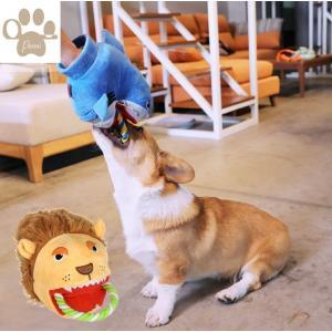 Panni 犬 綱引きおもちゃ 噛みおもちゃ 音の出るおもちゃ 可愛いサメ ライオン型玩具 運動不足解決 ストレス解消 |panni123