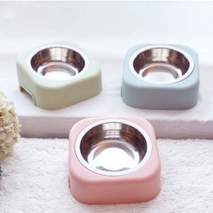 Panni ペット食事ボウル 猫 小型犬フードボウル シンプルデザイン 斜め設計 足腰に負担が軽減され 3色選べる panni123