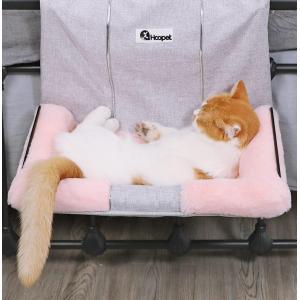 猫用 ハンモック ペット ねこ ネコ お昼寝 ベッド マット 手すり 椅子 ワイヤー フック 引っか...