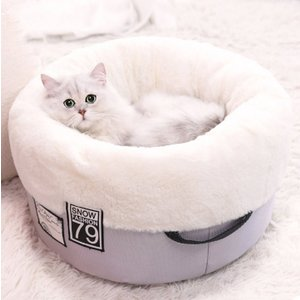 猫ベッド 猫ハウス ペット ベッド 猫ベッド 猫ハウス キャット ベッド ドーム型 保温防寒 選べる2色 panni123