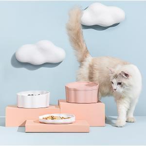 猫用 フードボウル ペット用 フードボウル 猫用食器  餌入れ 水入れ 可愛い お皿 おしゃれ 滑り止め|panni123
