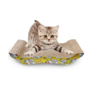 猫 爪とぎ 板 バリバリベッド つめとぎ ダンボール 猫スクラッチャー 猫ソファー (ベッド型)|panni123