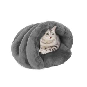 Panniペット寝袋 猫 スリーピングバッグ ベッド ネコちゃん 保温防寒 ハウス  クッション