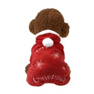 Panni 犬の服 クリスマス サンタさん レッド 秋冬服 フード付き ドッグウェア 新年 4サイズ...