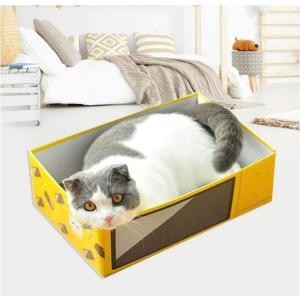Panni 猫 爪とぎ ダンボール にゃんボール 猫爪研ぎ 猫ベッド 段ボール ネコ つめとぎ 猫が板をつかむ 電子レンジ箱|panni123