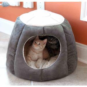 猫 ハウス 猫ベッド ドーム型 ペット ベッド クッション 猫 犬 ふわふわ もこもこ 柔らかい 選べる3色 かわいい panni123