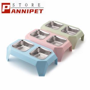 ペット ボウル 犬 猫 給餌器 給水器 ペット用 食器 犬用 猫用 食器 お水入れ 餌入れ ごはん皿 食べやすい|panni123
