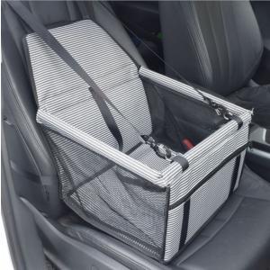 Panniペット用ドライブボックス ペットキャリー ドライブケージ 滑り止め 飛び出し防止 シートベルト付き 通気 折り畳み可能 助手席 |panni123