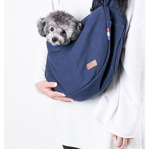 ペット お出かけ用 スリング ショルダーバッグ キャリー 斜め掛け 抱っこ紐 小型犬 猫  通気性抜...
