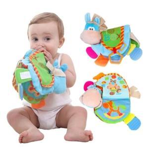 布絵本 知育 赤ちゃん ぬいぐるみ 大きいお馬さんの布絵本 洗濯 の画像