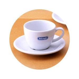デロンギ・ロゴ入りカプチーノカップ&ソーサー・バラ1客|paocoffee