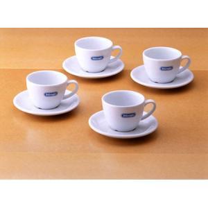 デロンギ・ロゴ入り カプチーノ カップ&ソーサー・4客セット|paocoffee