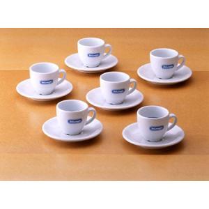 デロンギ・ロゴ入り エスプレッソ カップ&ソーサー・6客セット|paocoffee