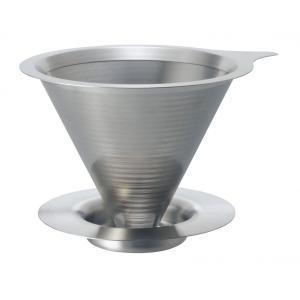 ハリオ・ダブル メッシュ メタルドリッパー DMD-01-HSV 1〜2杯用 (コーヒー ドリッパー) paocoffee