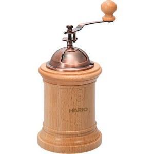 ハリオ手挽きコーヒーミル・コラムは、小型でスタンダードなデザインのコーヒーミル。上のホッパーが大きい...